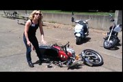 How to Safely Lift a Fallen Motorcycle