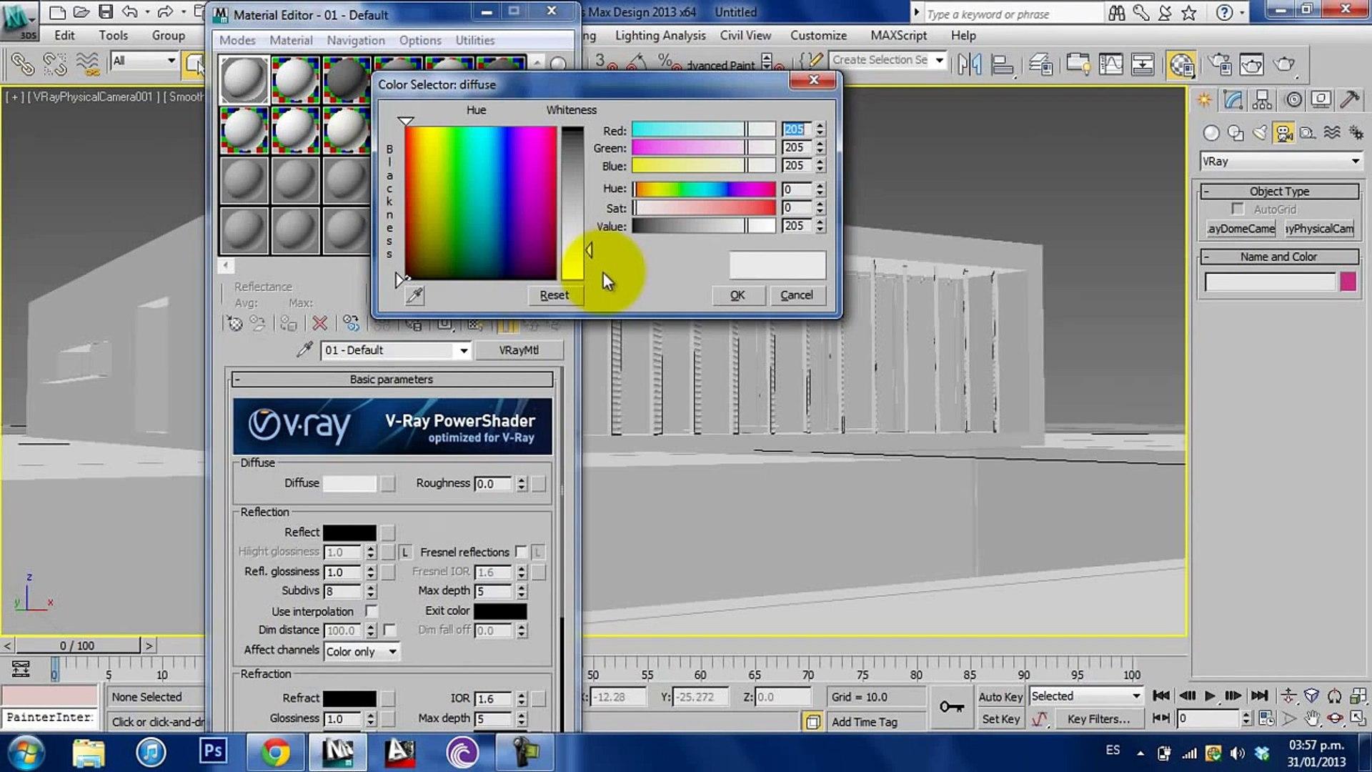 Vray tutorials, Exterior lighting