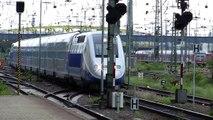 TGV duplex Zug Züge Trains SNCF  Einfahrt in Mannheim Hbf