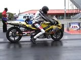 Turbo GSXR motorcycle vs turbo Hayabusa Prostreet AMA Semi Finals US 131 Speedway