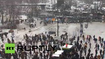 Video: Ukraine police filmed beating rioters as violence escalates in Kiev