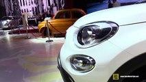 2015 Fiat 500X White Colour - Exterior and Interior Walkaround - 2014 Paris Auto Show
