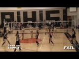 high school coach throws volleyball at girls head during game