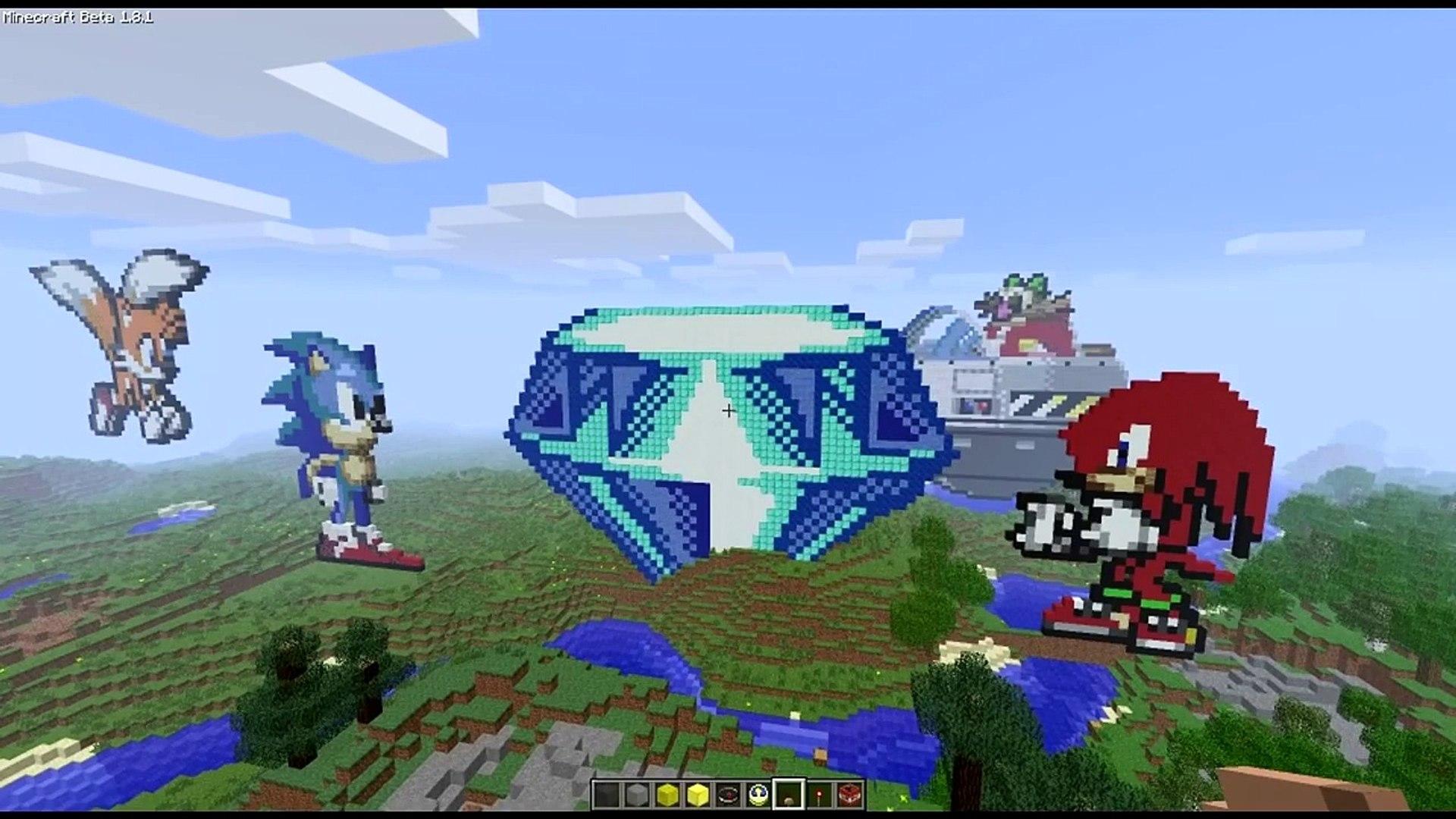 Minecraft   Sonic The Hedgehog Pixel Art