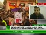 Estudiantes españoles dicen 'no' a los recortes y a los abusos policiales
