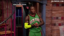 """Krypto-Nate"" Letterman Dunk - Jumps Over Biff on Late Night w/David Letterman"