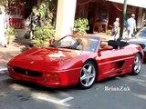 Red Ferrari F355 Spider and Yellow Ferrari F355 Spider F1