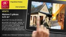 A vendre - maison - BEAUFORT EN VALLEE (49250) - 5 pièces - 123m²