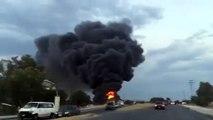 Incendio en estos momentos en Texcoco