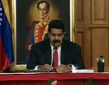 Nuncio apostólico del Vaticano en Venezuela, Aldo Giordano, lee carta enviada por el Papa Francisco