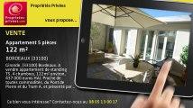 A vendre - appartement - BORDEAUX (33100) - 5 pièces - 122m²