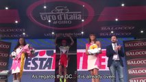 Giro dItalia 2015 Stage 11: Alberto Contador and Ilnur Zakarin post race interviews.