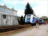 Depo Brno-Maloměřice, odjezd RegioPanteru 650.005 na zvláštním vlaku do Brna hl. n., 21. 6. 2014