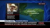 Mel Manuel Zelaya momentos despues de las Elecciones 2009 Honduras