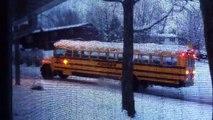 Schoolbus in the snow