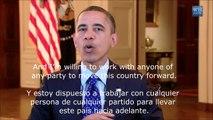 """Obama (Subtítulos en inglés/español) """"Trabajar Más Duro"""""""