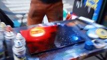 Spray paint street art  New York City