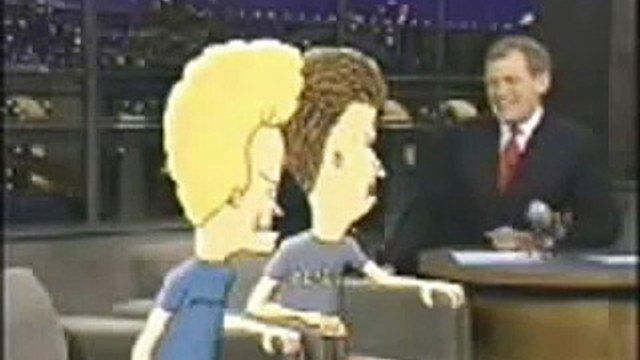 Beavis and Butthead at Letterman