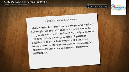 Vente Maison, Scionzier (74), 229 980€