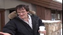Quentin Tarantino approached by paparazzi..