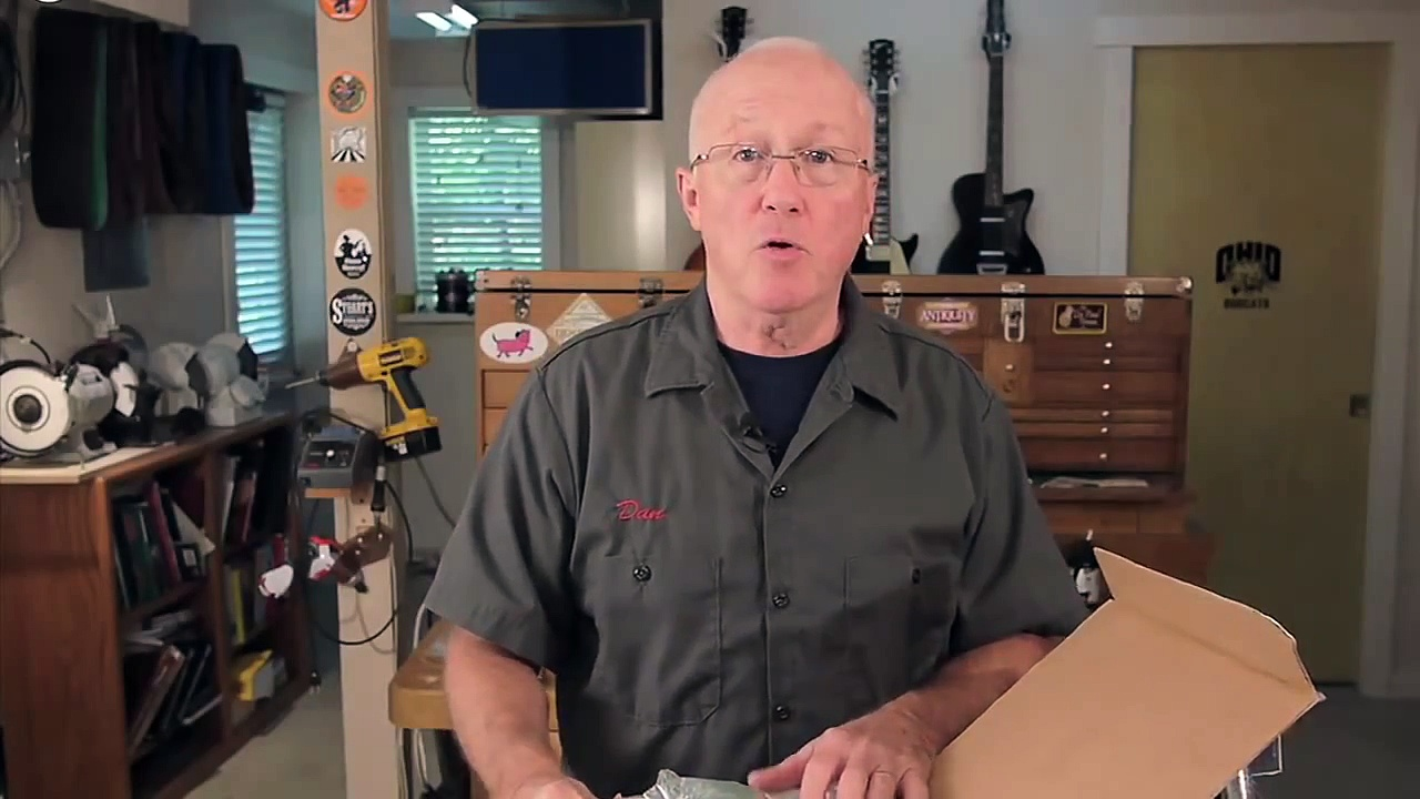 Installing guitar tuner knobs: trick for drilling holes