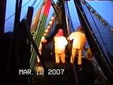 pesca artesanal mejillones juan pablo ll,buena pesca al amanecer