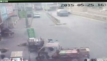 Chine : un camion-citerne perd ses freins et emboutit une dizaine d'autres véhicules