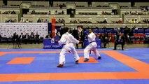 Finale +68kg : N. Aït-Ibrahim / A-L. Florentin - Championnats de France Karaté 2015