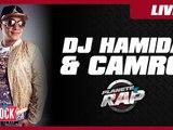 """Dj Hamida feat. Camro """"L'alcool c'est de l'eau"""" et  """"Paname"""" en live dans Planète Rap"""
