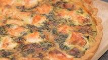 Recette de quiche saumon et épinard frais pour un dîner en famille - Gourmand
