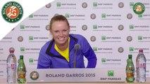 Conférence de presse Caroline Wozniacki / 1er Tour Roland-Garros 2015