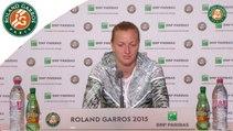 Conférence de presse Petra Kvitova Roland Garros 2015 - 1er Tour