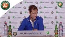 Conférence de presse Richard Gasquet / 1er Tour Roland-Garros 2015.