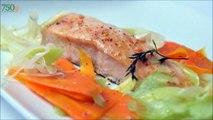 Recette de Saumon vapeur et ses légumes - 750 Grammes