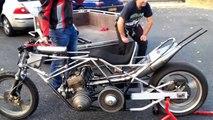 (first test) Premiers tours de roue dragster moteur motoneige 500 2T
