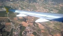 Vueling Airbus A320 landing at Valencia Airport