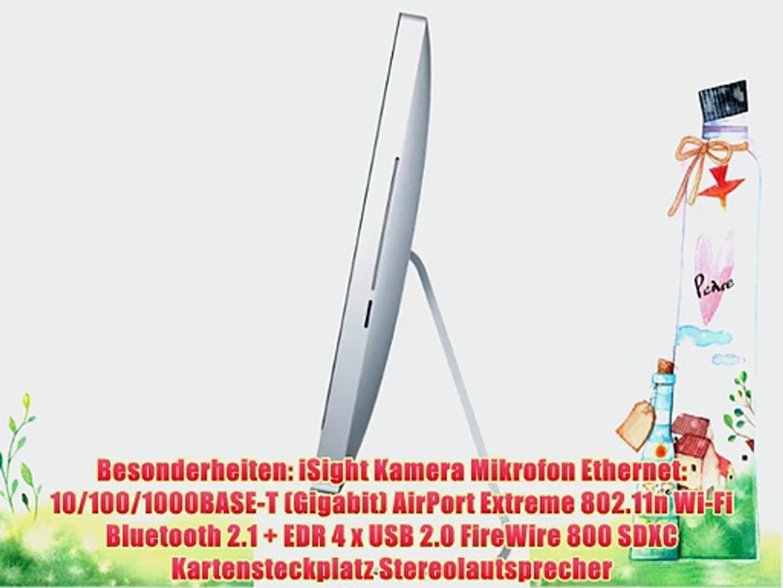 Sdxc Kartensteckplatz.Apple Imac Mc508d A 54 6 Cm 21 5 Zoll Desktop Pc Intel Core I3 540 3ghz 4gb Ram 500gb Hdd