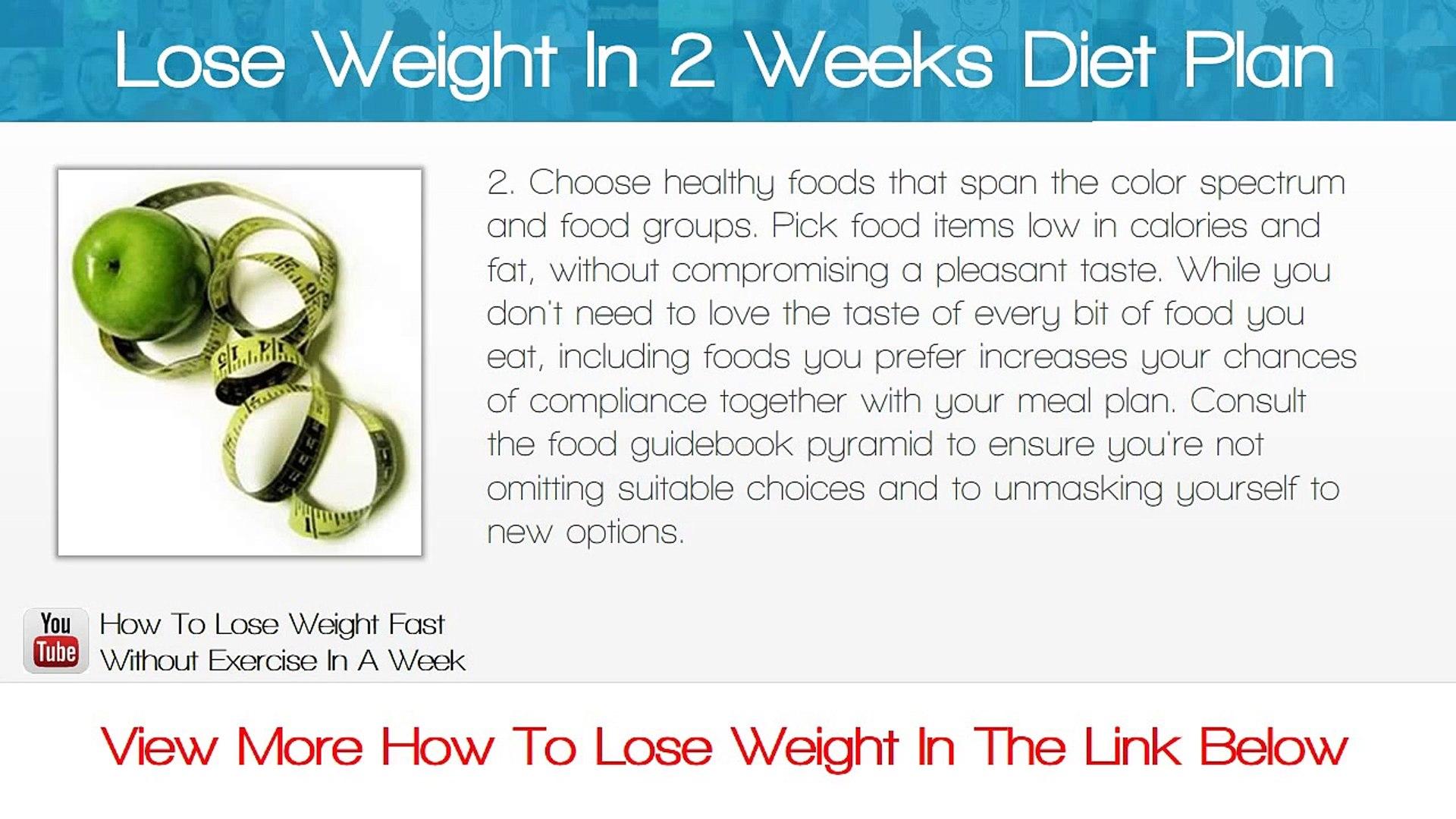 Lose Weight In 2 Weeks Diet Plan