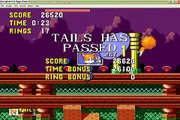 Tails in sonic 1 Spring yard zone speed run (0:23)