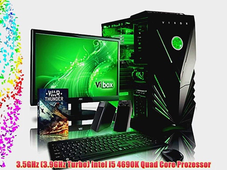VIBOX Panoramic Paket 35 - 3.9GHz Intel Quad Core B?ro Familie Multimedia Desktop Gamer Gaming