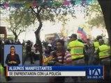 Quito: Algunos manifestantes se enfrentaron a la Policía