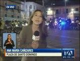 Enfrentamientos en Plaza Santo Domingo