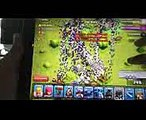Clash of clans MASS GAMEPLAY - 300 witches & 300 dragons raid