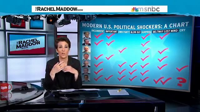 RACHEL MADDOW: Unpopularity real reason for Eric Cantor's downfall