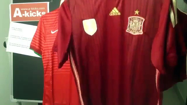 Unboxing Spain 2014 FIFA world cup soccer jerseys custom che
