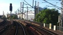 Rückwärtsfahrt auf der Berliner Stadtbahn / Berlin Ostbahnhof-Berlin Hbf