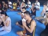 Buddhist Monks bless Tiger Muay Thai Camp, Phuket, Thailand