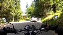RAW onboard: Quick ride up Slovenija's HIGHEST ROAD! riding Mangart road Honda CB500