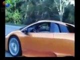 Toyota Supra toying with a Lambo Murcielago