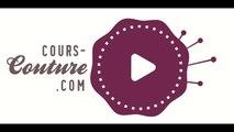 cours de couture - apprendre à coudre une jupe portefeuille plissée pour femme- Tuto de couture